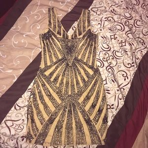 Vintage Beaded Couture Dress/Gatsby/Fapper dress